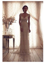 Load image into Gallery viewer, Bohemian Princess 'Grace' Beaded Lace Custom Made Wedding Dress
