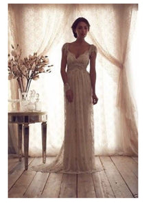Bohemian Princess 'Grace' Beaded Lace Custom Made Wedding Dress