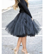 Load image into Gallery viewer, 'Gypsy' two tiered tulle petticoat skirt