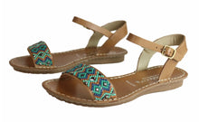 Load image into Gallery viewer, Andacco 'Roma' Beaded Leather Sandals