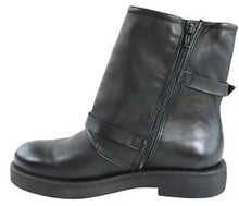 Load image into Gallery viewer, Inuovo Ion Buckle Up Leather Biker Ankle Boots