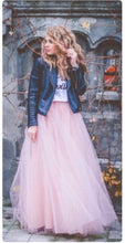 Load image into Gallery viewer, 'Gypsy' five layer Swiss Tulle Maxi skirt
