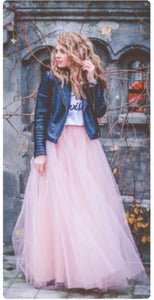 'Gypsy' five layer Swiss Tulle Maxi skirt