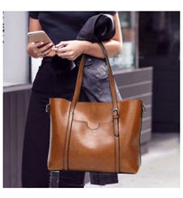 Load image into Gallery viewer, Super Chic Waxed Leather Tote Bags