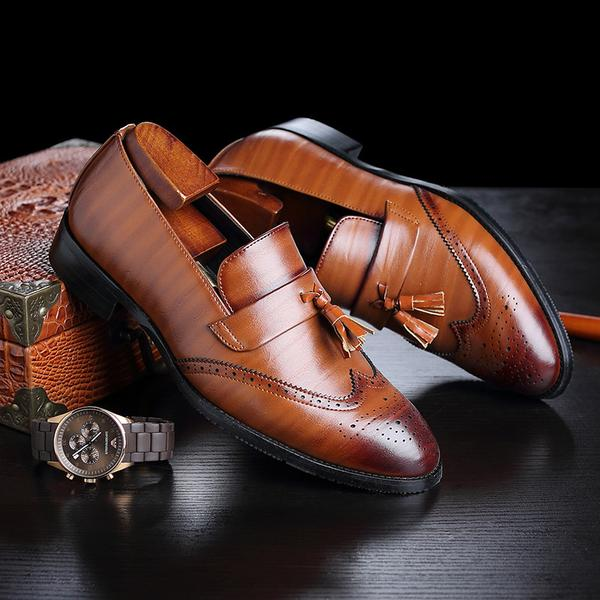 Luxury Men's Classic Leather Tassel Shoes