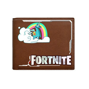 Fortnite Pattern Design High Quality Short Wallet