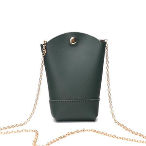 Woman Irregular Little Phone Bag Casual PU Crossbody Bag