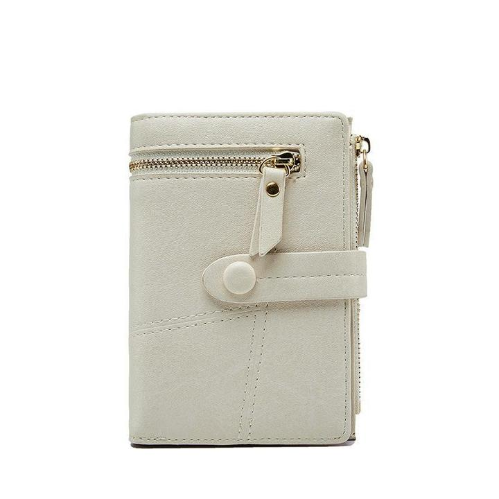 Bifold Stitching Multifunction 8 Card Slot Purse