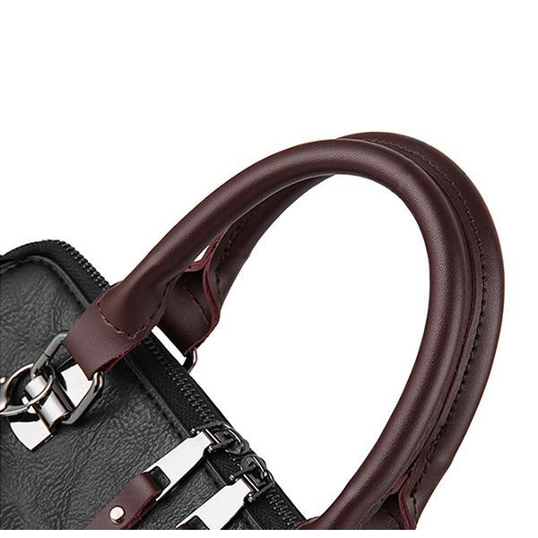 Classic Leather Messenger Bag Handbag