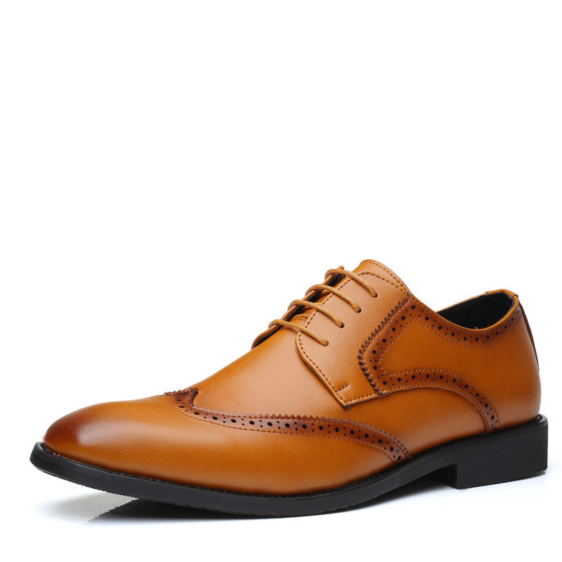 Men Brogue Carved Stylish Oxfords Formal Dress Wedding Shoes