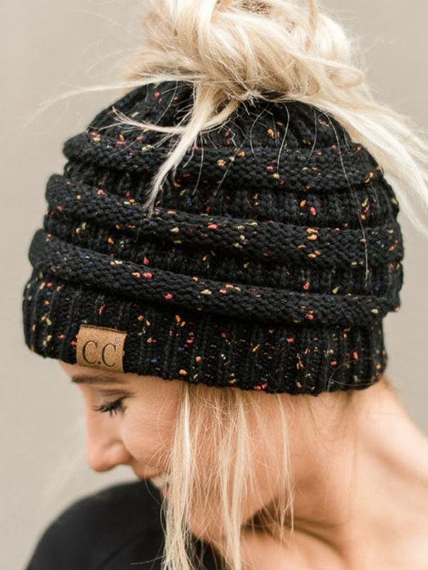 Letter Knitted Warm Hat