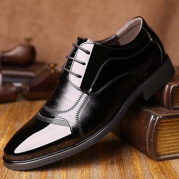 2019 Men's Patent Leather Oxford Dress Shoes