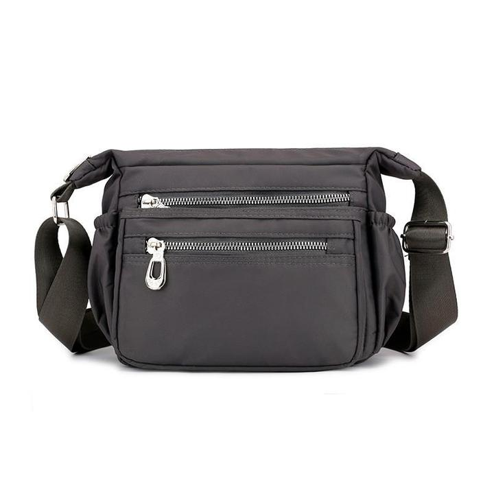 Solid Waterproof Nylon Crossbody Bag