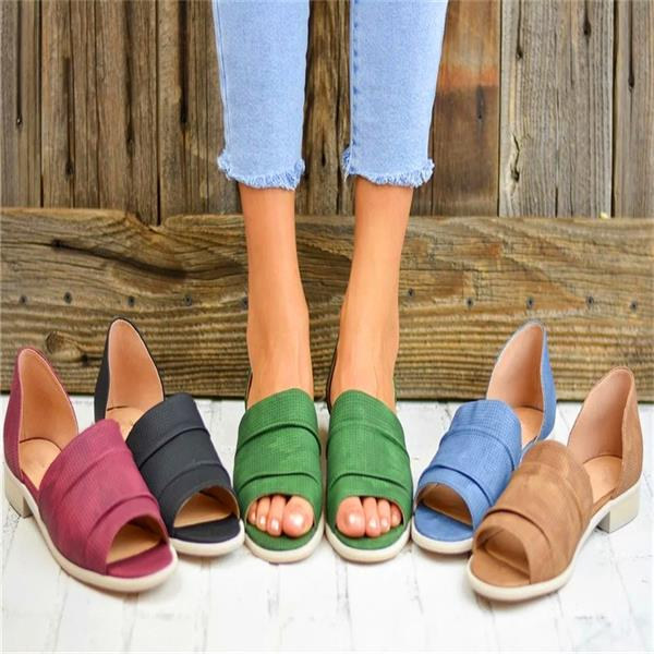 2019 Women's Casual Punch Flat Sandals