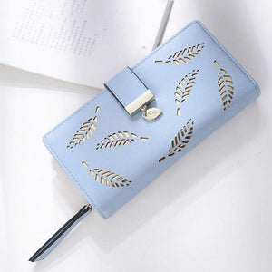Hollow Leaves Fashion Women Zipper Wallets
