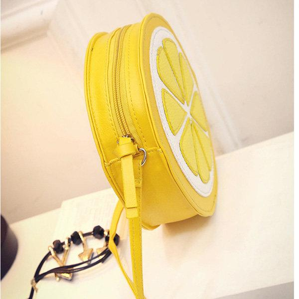 Women Cute Bags Lemon Pattern Lovely Shoulder Bags Crossbody Bags
