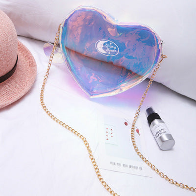 woman 2019 new super fire fashion radium transparent jelly bag