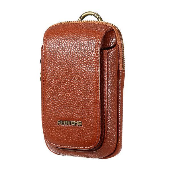 FLOVEME Portable Waist Bag Pu Leather Phone Bag Crossbody Bag For Men