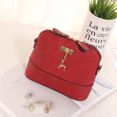 Women Messenger Bag Fashion Pu Shell Bag Deer Decoration Crossbody Bag