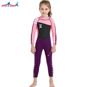 d3cd6be6f2 Kids 2.5mm Wetsuit Long Sleeve UV Protection Thermal Swimwear ...