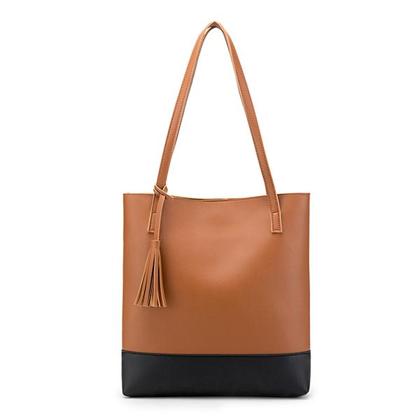 New single-sided tassel ladies leather bag Messenger bag