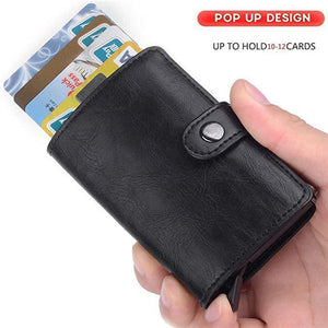 Antimagnetic RFID automatic card package