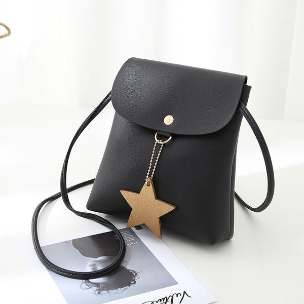 Women Casual Phone Bag Mini Five-Pointed Star Shoulder Bags Crossbody Bags