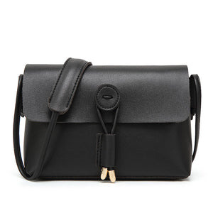Women Pure Color Vintage PU Leather Crossbody Bags Shoulder Bags