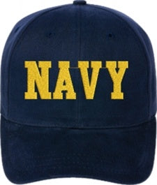 Adjustable Fit U.S. Navy Cap - Text Only - Custom Military Apparel & Accessories
