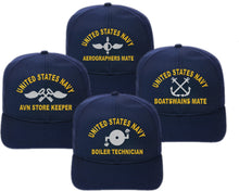 Load image into Gallery viewer, Flex Fit U.S. Navy Direct Embroidered Ratings Cap - Custom Military Apparel & Accessories