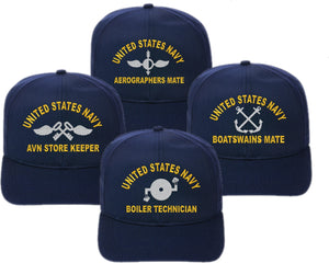 Flex Fit U.S. Navy Direct Embroidered Ratings Cap - Custom Military Apparel & Accessories