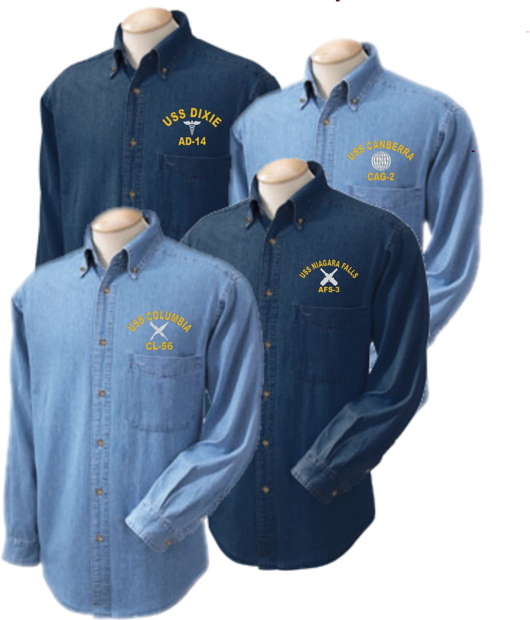 U.S. Navy Direct Embroidered Rating Denim Shirt - Custom Military Apparel & Accessories