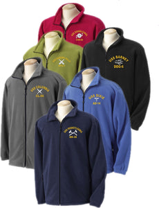 Embroidered U.S. Navy Rating Full Zip Fleece Jacket - Custom Military Apparel & Accessories