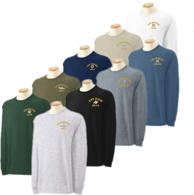 Embroidered Long Sleeve U.S. Navy Rating T-Shirt - Custom Military Apparel & Accessories