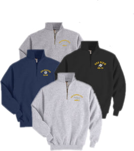 Embroidered U.S. Navy Rating Quarter-Zip Sweatshirt - Custom Military Apparel & Accessories
