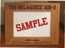 Load image into Gallery viewer, Custom Laser Etched Ship 5x7 Picture Frame - Custom Military Apparel & Accessories