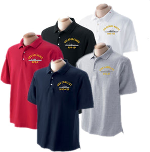 46fb08a8 Embroidered USS Ship Golf Shirt - Custom Military Apparel & Accessories