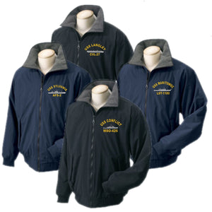 Embroidered USS Ship Portlander Jacket - Custom Military Apparel & Accessories