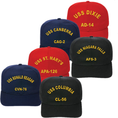 Adjustable Fit U.S. Navy Ship Cap - Text Only - Custom Military Apparel & Accessories