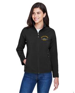 Embroidered USS Ship Ash City - Core 365 Ladies' Cruise Two-Layer Fleece Bonded Soft Shell Jacket - Custom Military Apparel & Accessories