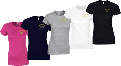 Embroidered Gildan Ladies' Softstyle® 4.5 oz. Fitted USS Ship T-Shirt - Custom Military Apparel & Accessories