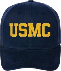 Adjustable Fit Embroidered Adjustable U.S. Marine Corps Cap - Text Only - Custom Military Apparel & Accessories