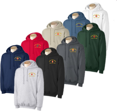 Custom Embroidered USMC Hooded Sweatshirt - Custom Military Apparel & Accessories