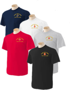 Custom Embroidered U.S. Marine Corps T-Shirt - Custom Military Apparel & Accessories