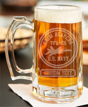 Load image into Gallery viewer, Custom Etched Warbird Beer Stein - Custom Military Apparel & Accessories