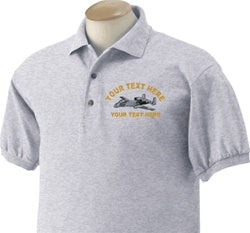 Direct Embroidered Custom Warbird Golf Shirt - Custom Military Apparel & Accessories