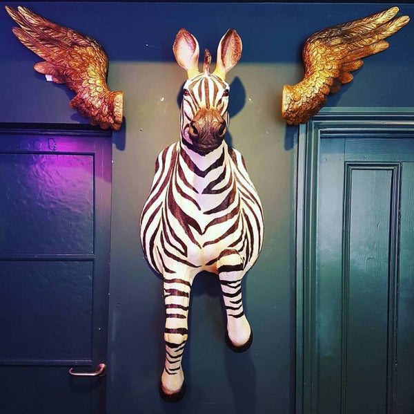 Wall Mounted Running Zebra