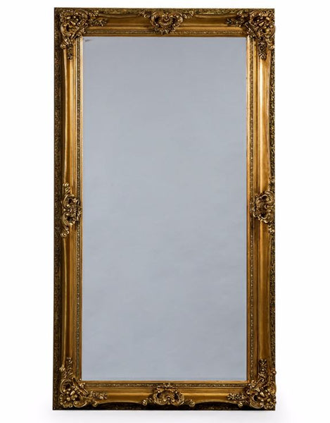 extra large tall ornate gold wall mirror 210 x 120cm
