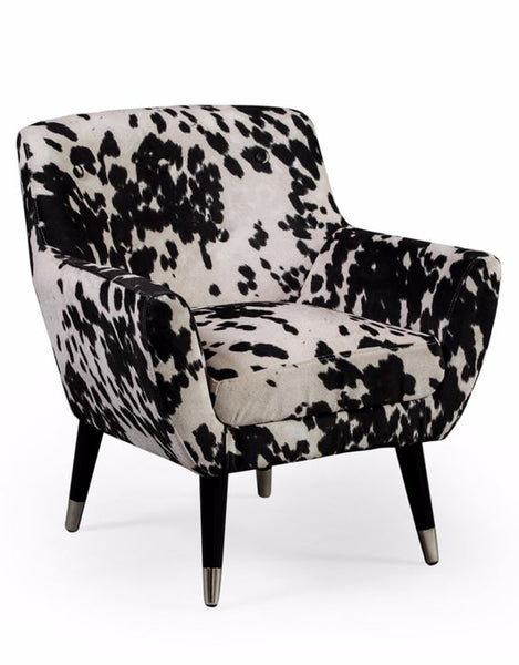 Black Cowhide Armchair - 100% vegetarian