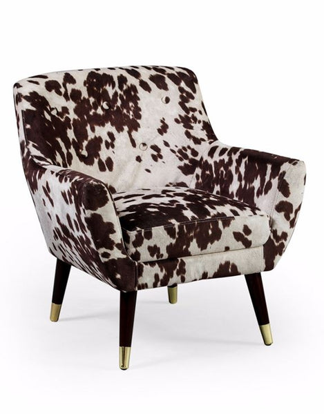 Brown Cowhide Armchair - 100% vegetarian